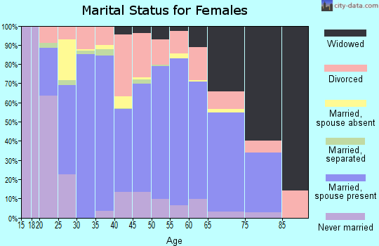 Zip code 42134 marital status for females