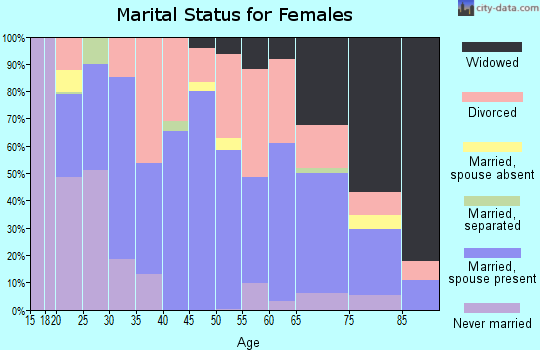 Zip code 42167 marital status for females