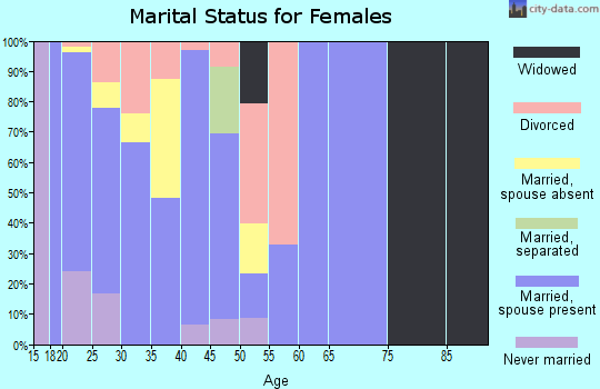 Zip code 42262 marital status for females