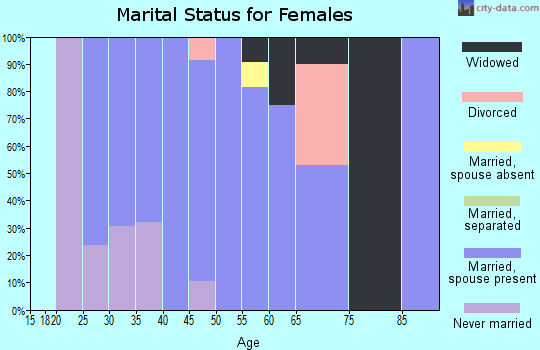 Zip code 42274 marital status for females