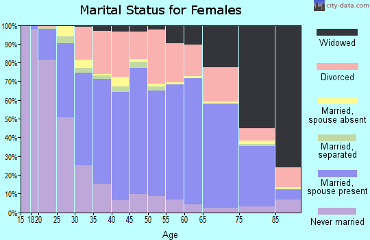 Zip code 42303 marital status for females