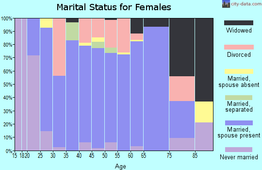 Zip code 42348 marital status for females