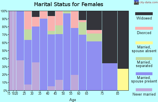 Zip code 42376 marital status for females