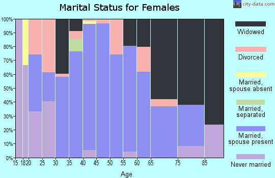 Zip code 42378 marital status for females