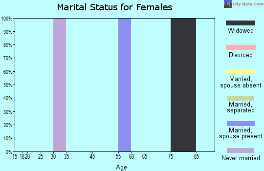 Zip code 42632 marital status for females