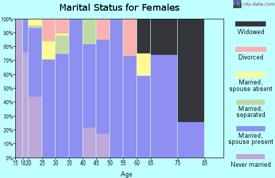 Zip code 42635 marital status for females
