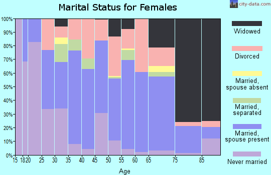 Zip code 42717 marital status for females