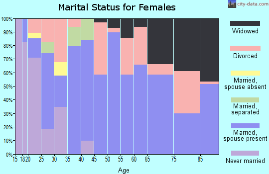 Zip code 42721 marital status for females
