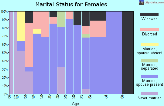 Zip code 42724 marital status for females