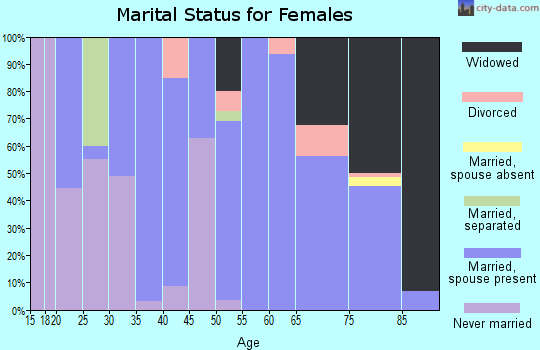 Zip code 43533 marital status for females