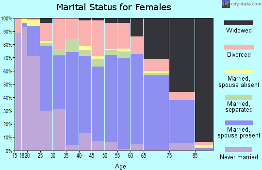 Zip code 45133 marital status for females