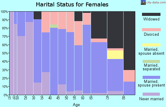 Zip code 45167 marital status for females