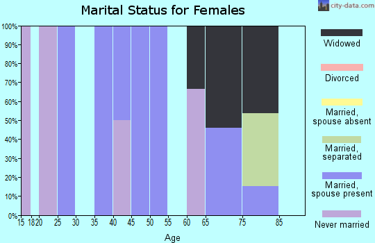 Zip code 45172 marital status for females
