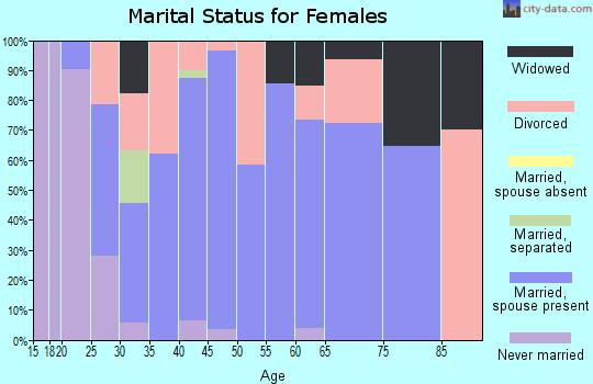 Zip code 45346 marital status for females