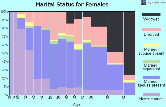 Zip code 45503 marital status for females