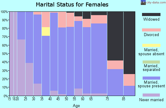 Zip code 46167 marital status for females