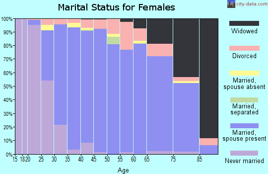 Zip code 46530 marital status for females