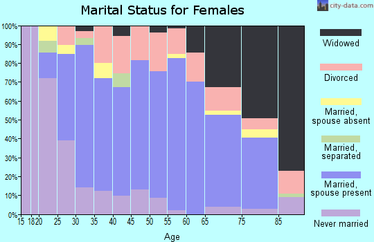 Zip code 46534 marital status for females