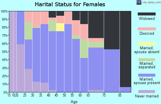 Zip code 46542 marital status for females