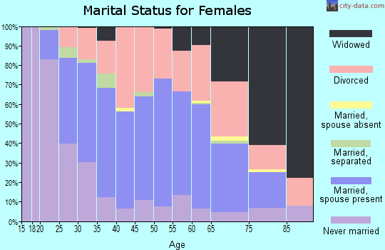 Zip code 46545 marital status for females
