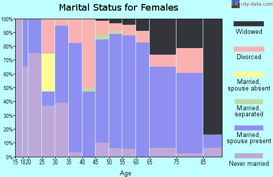 Zip code 47330 marital status for females