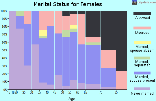 Zip code 47336 marital status for females