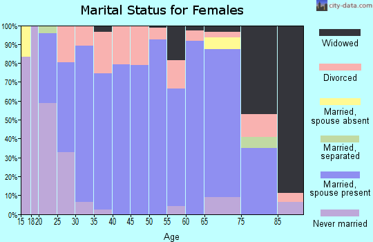 Zip code 47340 marital status for females