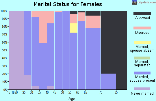 Zip code 47513 marital status for females