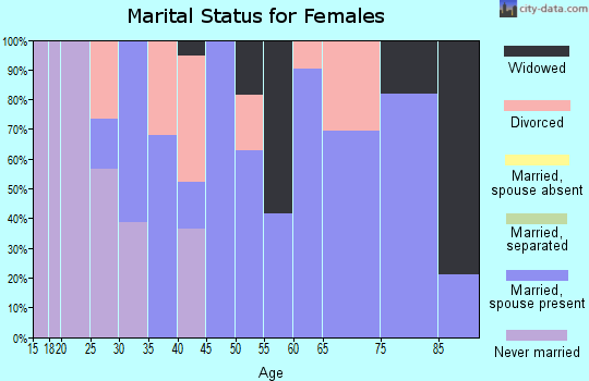 Zip code 47862 marital status for females