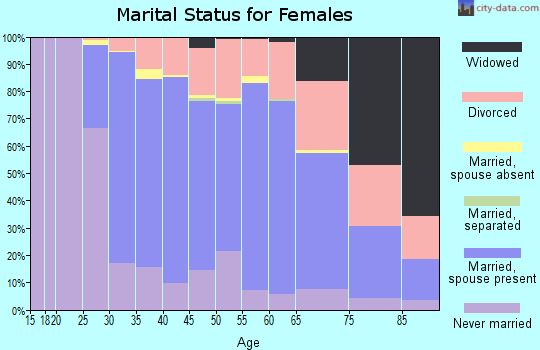 Zip code 48009 marital status for females