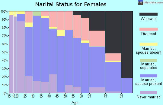 Zip code 48040 marital status for females