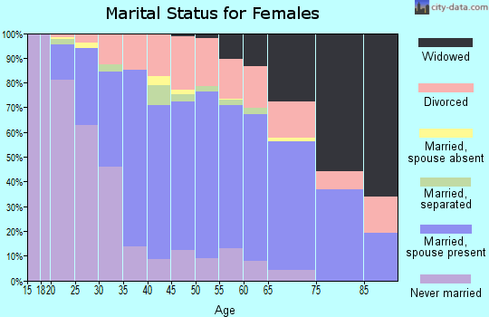 Zip code 48045 marital status for females