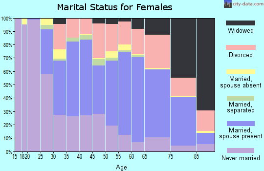 Zip code 48076 marital status for females