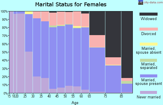 Zip code 48116 marital status for females
