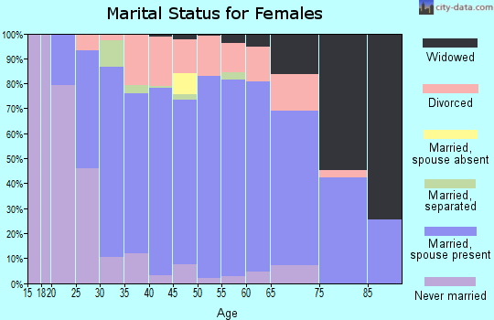 Zip code 48117 marital status for females