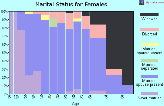 Zip code 48144 marital status for females
