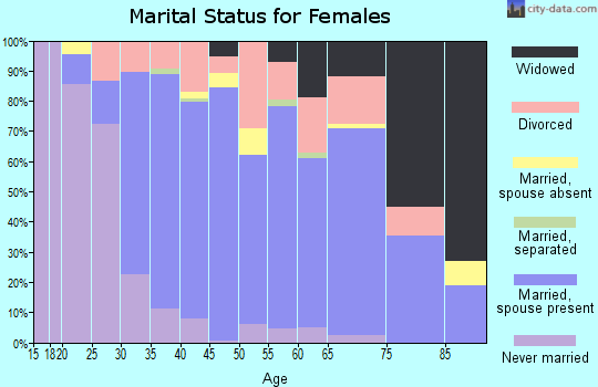 Zip code 48173 marital status for females