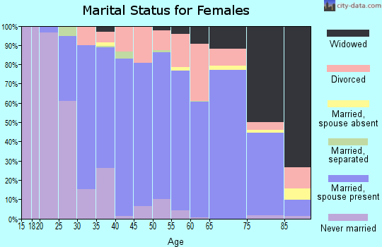 Zip code 48176 marital status for females