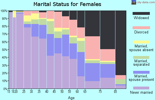 Zip code 48203 marital status for females