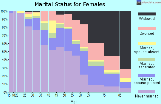 Zip code 48204 marital status for females