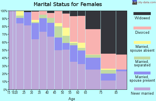 Zip code 48207 marital status for females
