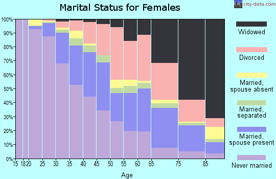 Zip code 48219 marital status for females