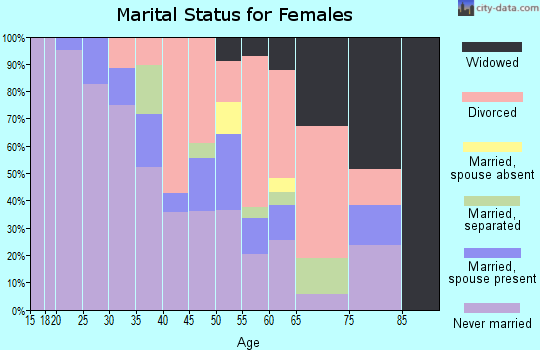 Zip code 48226 marital status for females