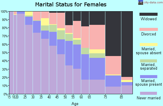 Zip code 48234 marital status for females