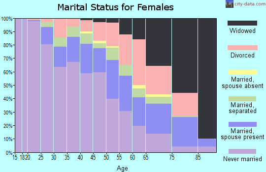 Zip code 48238 marital status for females