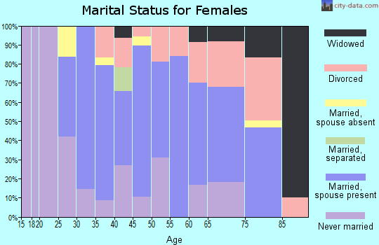 Zip code 48320 marital status for females