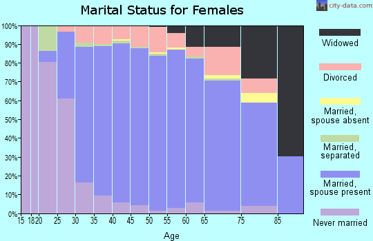 Zip code 48348 marital status for females