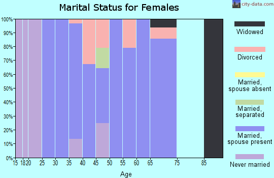 Zip code 48370 marital status for females