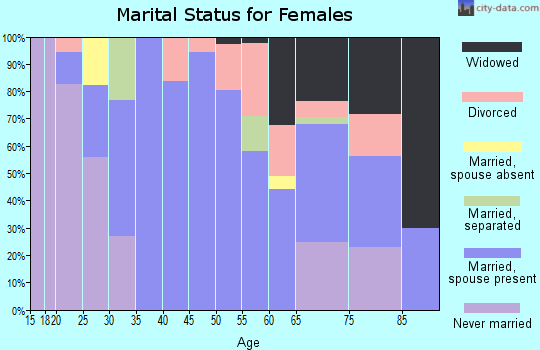 Zip code 48401 marital status for females