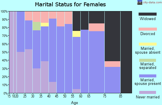 Zip code 48417 marital status for females